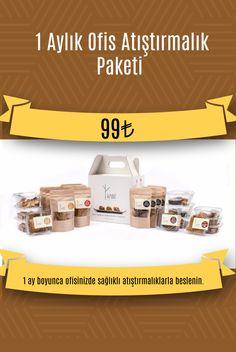 1 ay boyunca ofisinizde sağlıklı atıştırmalıklarla beslenin 🎈  24 adet atıştırmalık içeren paketin 6 aylık abonelik ücreti 99 TL'dir.   Her 30 günde bir adresinize gönderilir.  Tek aylık fiyat ise; 129 TL  🎁 4 paket Glutensiz Parmak Kraker 🎁 4 Paket %70 Çikolata Fındık Ezmesi Parmak Kraker 🎁 4 Paket Fıstık Ezmesi ve Parmak Kraker 🎁 4 Paket Glutensiz Biscotti 🎁 4 Paket Granola Bar 🎁 4 Paket Chia Tohumlu Kraker