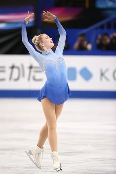 Gracie Gold of the USA competes in the Ladies Free Skating during ISU World Figure Skating Championships at Saitama Super Arena on March 29,...