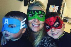 #mysuperheroes #joelandwill #captainamerica #thehulk #spiderman