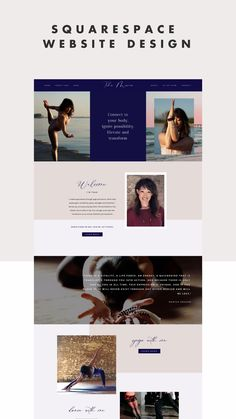 Tsha Marie inspires her students to connect with their bodies through yoga and dance. With that, we wanted to bring a lot of flow and movement into her website design, incorporating script fonts, ocean-inspired images, and jewel tones. Affordable, all-inclusive squarespace websites Squarespace, Tips, Business, Templates, Creative, How, Make, Template, Blog, Graphics, Tutorial, Help, Tricks, Video, DIY, Business, Small Biz, Squarespace Website Design Tips, Squarespace Website Design, Web… Website Header Design, Website Design Services, Wordpress Website Design, Website Design Company, Minimal Web Design, Design Web, Wordpress Website Development, Website Illustration, Dance Instructor