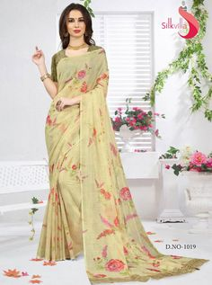 SILK VILLA D.NO.-1019 RATE : 975 - SILK VILLA PHULKARI VOL 2 1011 TO 1019 SERIES  SILK PRINTED DESIGNER SAREES AT WHOLESALE PRICE AT  DSTYLE ICON FASHION CONTACT: +919624773071 SET TO SET - DStyle Icon Fashion