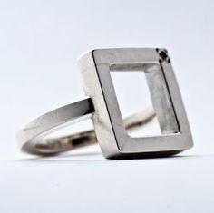 setting ring Magpie, Cufflinks, Silver Rings, Jewellery, My Style, How To Make, Accessories, Jewels, Jewelry Shop