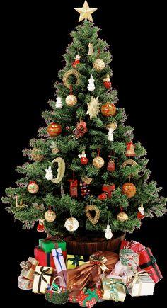albero di Natale con tante lusi colorate