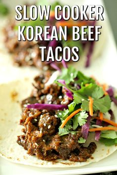 Frugal Food Items - How To Prepare Dinner And Luxuriate In Delightful Meals Without Having Shelling Out A Fortune Slow-Cooker-Korean-Beef-Tacos Korean Beef Tacos, Slow Cooker Korean Beef, Slow Cooker Tacos, Slow Cooker Freezer Meals, Beef Meals, Best Slow Cooker, Skillet Meals, Asian Recipes, Mexican Food Recipes