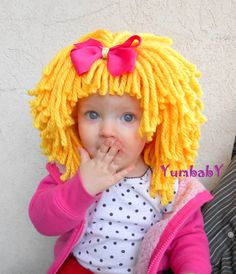 Yellow Wig Halloween Costume Baby Hat  Baby Costume by YumbabY, $29.95