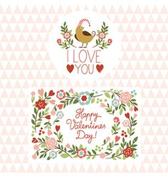 Valentines day card vector - by Lenlis on VectorStock®
