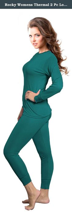 Rocky Womens Thermal 2 Pc Long John Underwear Set Top and Bottom Smooth Knit (Large, Teal). Be prepared for the cold weathers! Keeping warm could not have been any easier. Thermal 2pc sets ideal for : High quality underwear ,Sleepwear, Athletic wear. Includes: Thermal 2pc set 0ne (1) top and one (1) bottom Double layer long knit cuffs . Smooth Knit. Full cut for comfortable fit. Shrinkage controlled for lasting size and shape. Thermal knit retains body heat to keep you warm…