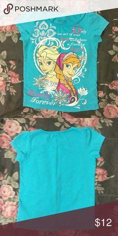 Girls Frozen Disney shirt Frozen shirt with Elsa and Anna nwot size 5in girls Disney Shirts & Tops Tees - Short Sleeve