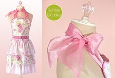 Free Shabby Chic Ruffled Apron Pattern - many free apron patterns in one place.