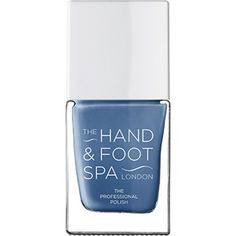 THE HAND AND FOOT SPA Denim blue professional nail polish (255.470 IDR) ❤ liked on Polyvore featuring beauty products, nail care, nail polish, gel nail polish, shiny nail polish and gel nail color