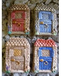 Rustic Fairy Cottage Door 4 Colours
