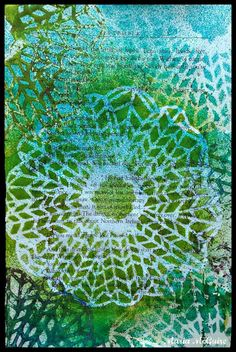 Believe Dream Create with Maria: Playing with the Chevron Doily Mask Stencil from StencilGirl Products