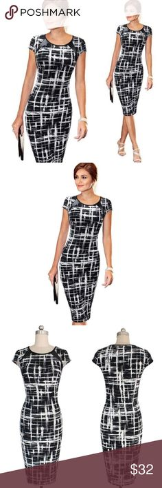 Dress Black and white maxi dress. Perfect for work. Dresses Maxi