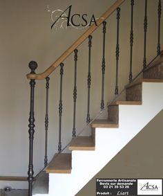 Rampe d'escalier fer et bois – Liart   Images d'accueil, Rampes