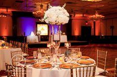 Brian Pepper Photography, Orlando Wedding Pix, Ballroom at Church Street, Lee James Floral Designs, Orlando wedding, reception floral, white floral centerpiece