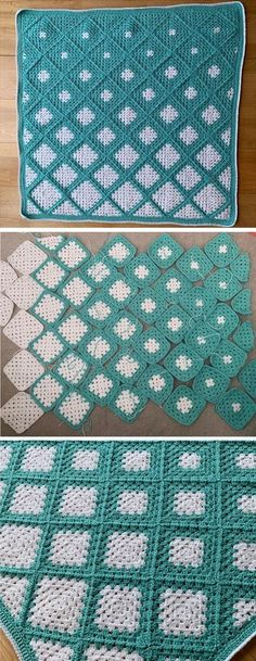 Crochet Squares 22369 Crochet Granny Squares Into a Blanket - Design Peak - My Pins - Crochet Squares 22369 Crochet Granny Squares Into a Blanket – Design Peak - Crochet Afghans, Afghan Crochet Patterns, Crochet Stitches, Knitting Patterns, Blanket Crochet, Granny Squares Crochet Blanket, Crochet Daisy, Free Crochet, Crotchet