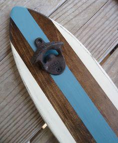 Surfboard Wall Mount Bottle Opener