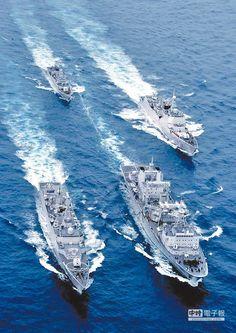 大陸海軍編隊。(新華社資料照片) People's Liberation Army, Indian Navy, Seafarer, Army & Navy, Battleship, Armed Forces, Beaches, Air Force, Boats