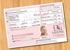 Einladungskarten Geburtstag LUSTIG Rezept Arzt 50