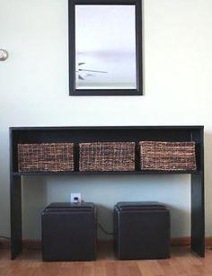 rustic modern console table building plan. #diy #tutorial #furniture