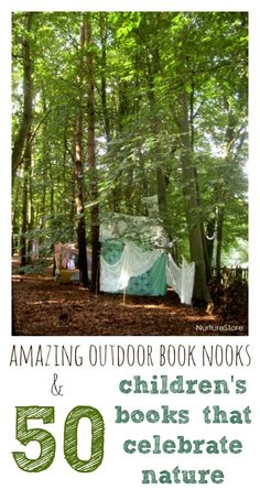 Amazing outdoor book nooks and the top 50 children's books about nature