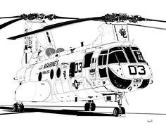 """Boeing CH-46 Sea Knight HMM-265 """"Dragons"""""""