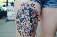alice in wonderland tattoo.