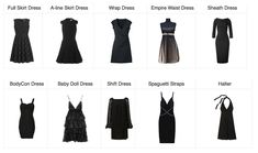 Best Dress for Body Type - Mom Generations Dress Style Names, Dress Name, Plus Size Wedding Dresses With Sleeves, Nice Dresses, Short Dresses, Formal Dresses, Fashion Terminology, Fashion Terms, Mom Fashion