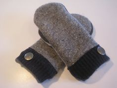 Muskegon Heights Wool & Cashmere Mittens by MichMittensbyLauri, $28.00