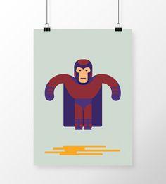 Poster Xmen - Magneto Flat em print