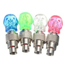 Skull design Wheel Valve Light can be used for car, motorcycle, bicycle, mountain bike etc.. You just need to connect it to valve hole. It can flash light as yo
