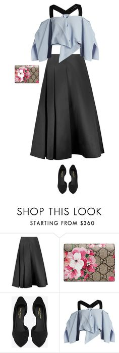 """""""Untitled #4975"""" by linda56draco ❤ liked on Polyvore featuring Jason Wu, Gucci, Yves Saint Laurent and Roland Mouret"""