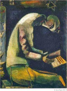Marc Chagall, 'Jewish Praying' (1923)
