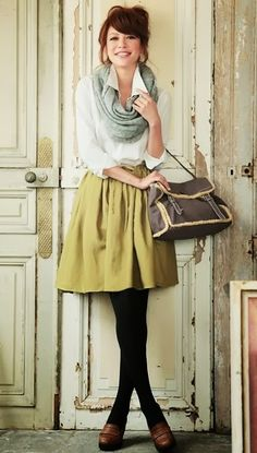 Get a little length on that skirt and this is perfect. Love the colors!