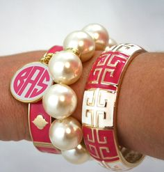 bracelets with monogrammed charm