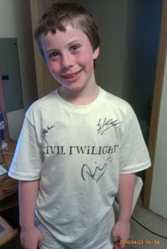 My son in his Signed CT shirt!!