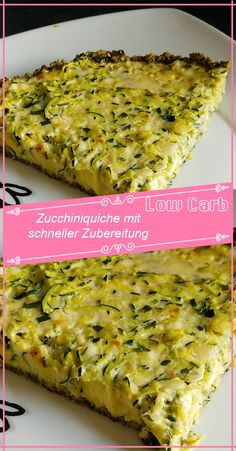 Zucchini quiche with quick preparation - Ingredients: 600 g zucchini 200 g acc. Pumpkin seeds 3 eggs 20 g soft butter 130 g sheep feta chees - Paleo Breakfast, Breakfast Casserole, Quiches, What Can I Eat, Eat Smart, Vegan, Pastel, Food Inspiration, Sour Cream