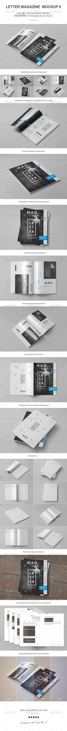 Letter Magazine / Brochure Mock-up #magazinemockup #brochuremockup #journalmockup Download: http://graphicriver.net/item/letter-magazine-brochure-mockup-ii/8234615?ref=ksioks