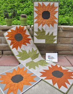 "NEW too... Suzanne's Art House Pattern - Zebra Finch Quilts and Card - Finished sizes are about 11"" by 12"" - 12"" by 20"" and 12"" by 40"" - Bonus greeting card included - Pattern Price: $9. Suzanne is another of our wonderful local San Diego area artist/designer. It is great we get an opportunity to see her just about every week :) and we get the first choice of her scissor charms that are sew stinkin' cute ;)"