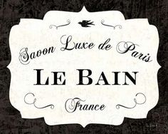 Sue Schlabach Solid-Faced Canvas Print Wall Art Print entitled Le Bain Luxe II, None Wall Art Prints, Fine Art Prints, French Bathroom, Country Wall Art, Decoupage Vintage, Vintage Bathrooms, Custom Canvas, Canvas Artwork, Decoration