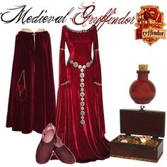 """""""Medieval Gryffindor"""" by nearlysamantha on Polyvore"""
