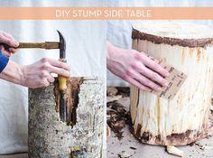 DIY Stump Sidetable