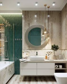 Luxury Apartment in Moscow by . - Home Decor Washroom Design, Bathroom Design Small, Bathroom Interior Design, Luxury Bedroom Design, Bathroom Design Inspiration, Showroom Design, Luxurious Bedrooms, Luxury Apartments, House Design