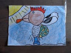 6 dieren in 1. Gemaakt door mijn zoon 10 jaar. Draak, kip, schildpad, vis, vogel en een kwal.