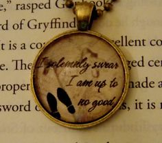 Harry Potter Marauder's Map Necklace