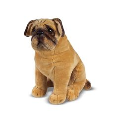 Melissa And Doug Melissa & Doug Pug Dog Stuffed Animal - Sit! This obedient pug is content to faithfully sit by your side. Pugs, Pug Puppies, Pug Dogs, Baby Dogs, Pitbull, Dog Toys, Jack Russell Terrier, French Bulldog, Ebay