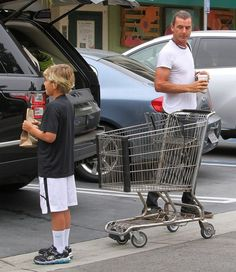 Gavin Rossdale takes his son Kingston to Starbucks and then grocery shopping at Whole Foods
