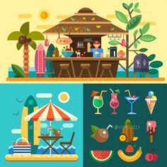 Tropical Country Summer Vacation - Travel Conceptual