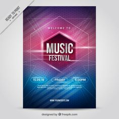 Interesting music party poster Free Vector