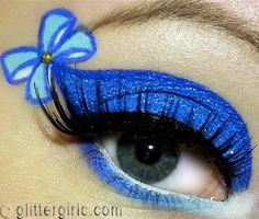 A take on Alice in wonderland. Love the bright blue